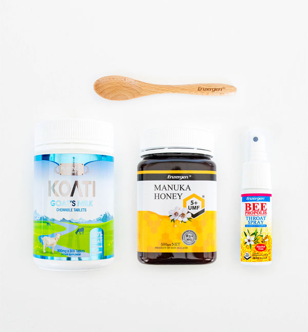 Flu Prevention: Manuka Honey & Propolis Spray & Goats Milk Tablets - KiwiCorp