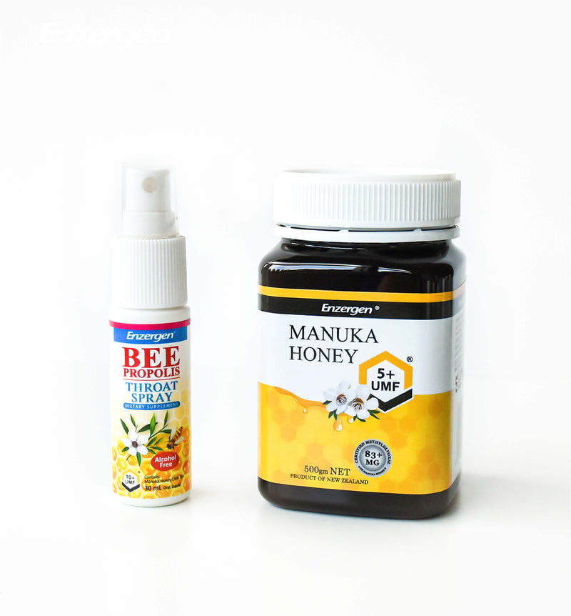 Bee Propolis Throat Spray (Alcohol Free) & Manuka Honey UMF® 5+ - KiwiCorp