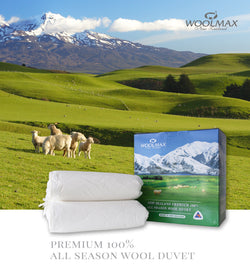 WoolMax 100% Premium ALL SEASON WOOL DUVET - KiwiCorp