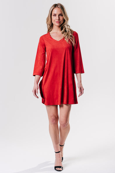 Margaret Dress Suede