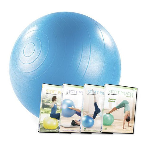 "Merrithew Stability Ball™ 4 DVD Set - 22"" (Blue), Stott Pilates"