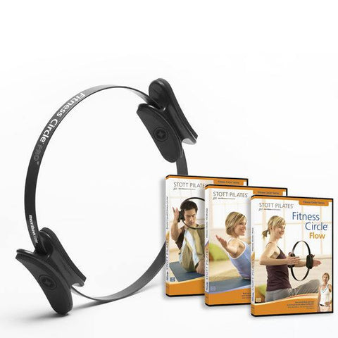 "Fitness Circle Pro 12 inch 12"" & Fitness Circle Series 3 DVDs, Merrithew, Stott Pilates"