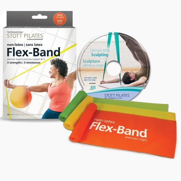 Pilates Accessories,Merrithew / Stott,STOTT PILATES®Non Latex Flex-Band® - 3 Pack with DVD,[product_sku],Pilates Flex Equipment - Pilates Flex Equipment