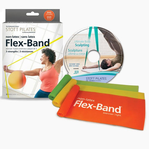 Pilates Accessories,Merrithew / Stott,STOTT PILATESå¨Non Latex Flex-Bandå¨ - 3 Pack with DVD,[product_sku],Pilates Flex Equipment - Pilates Flex Equipment