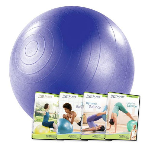 "Merrithew Stability Ball 4 DVD Set Combo 30"" Purple, Stott Pilates"