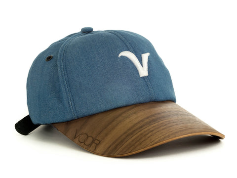 6-Panel | Kaufman Grey | Wood Brim Hat