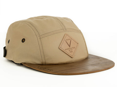 5-Panel | Red Kona | Wood Brim Hat
