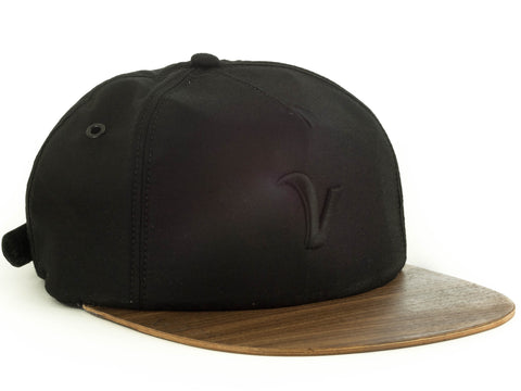 Trucker | Black Kona | Wood Brim Hat