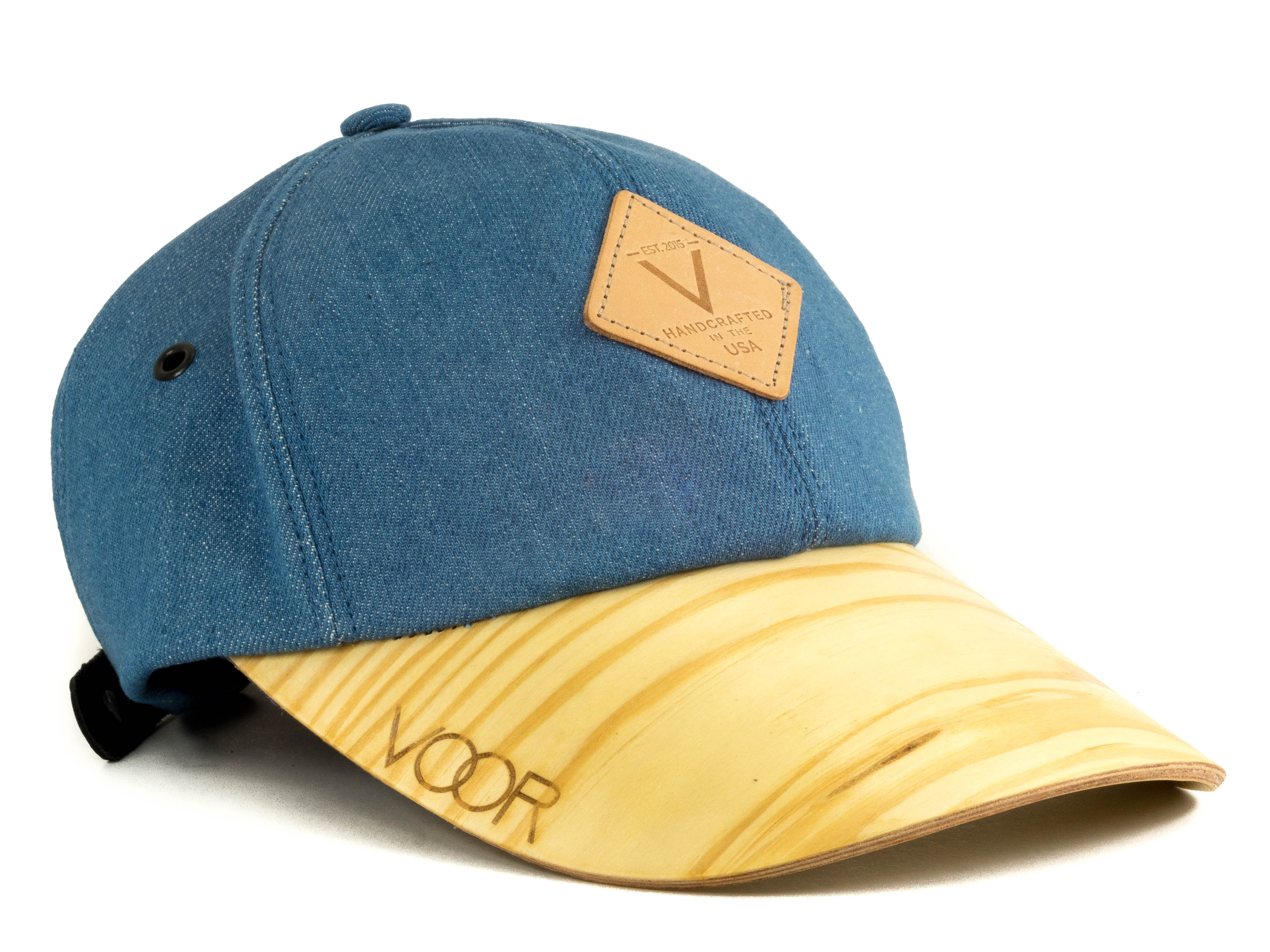 6-Panel | Blue Denim | Wood Brim Hat