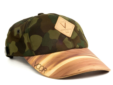 6-Panel | Black Kona | Wood Brim Hat