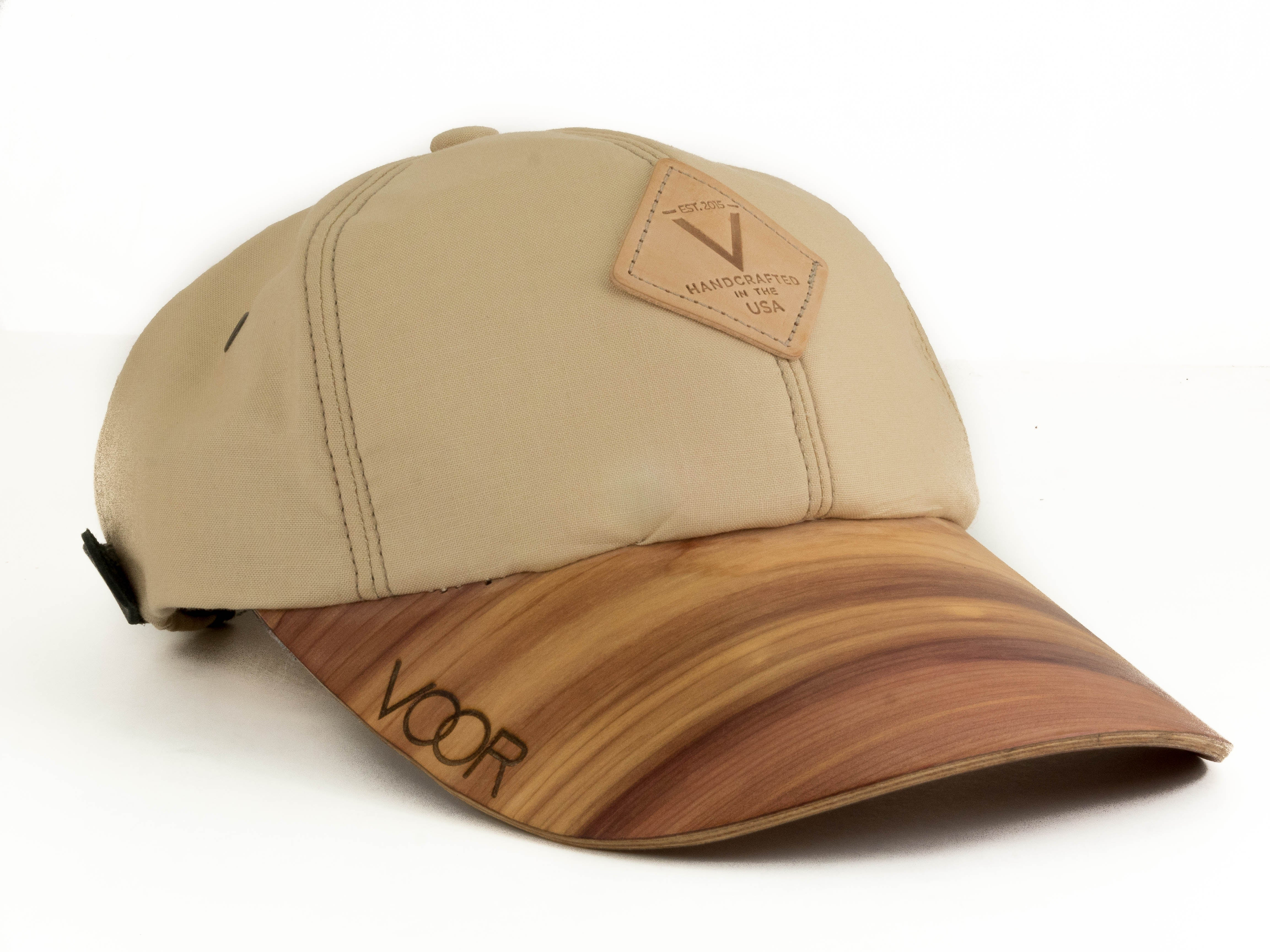 6-Panel | Raffia Kona | Wood Brim Hat