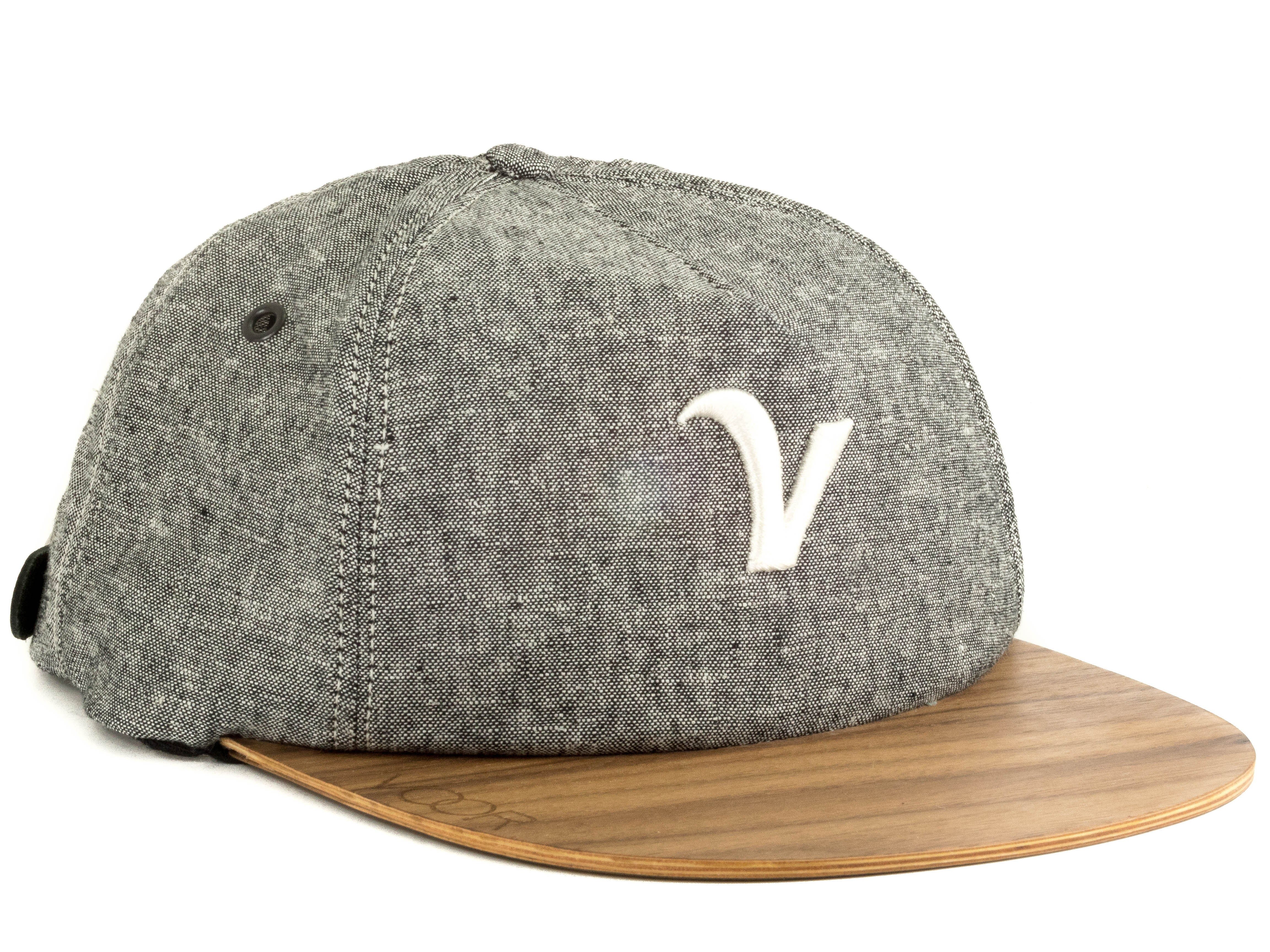 Trucker | Kaufman Grey | Wood Brim Hat