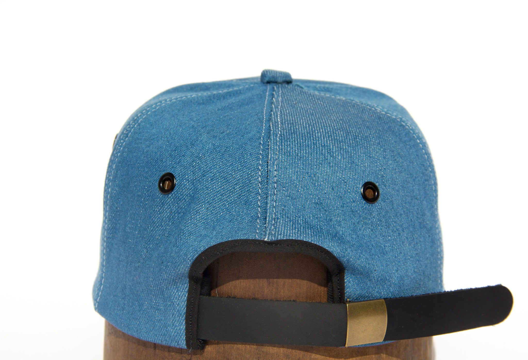 Trucker - Blue Denim - Wood Brim Hat