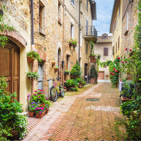 tuscan italy street view vacation