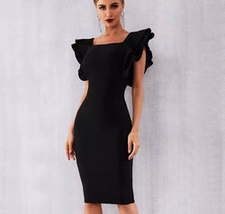 EMRATA RUFFLE DRESS - Revossa