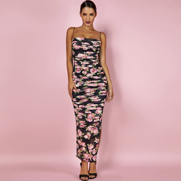 FLORAL MAGIC MAXI DRESS - Revossa