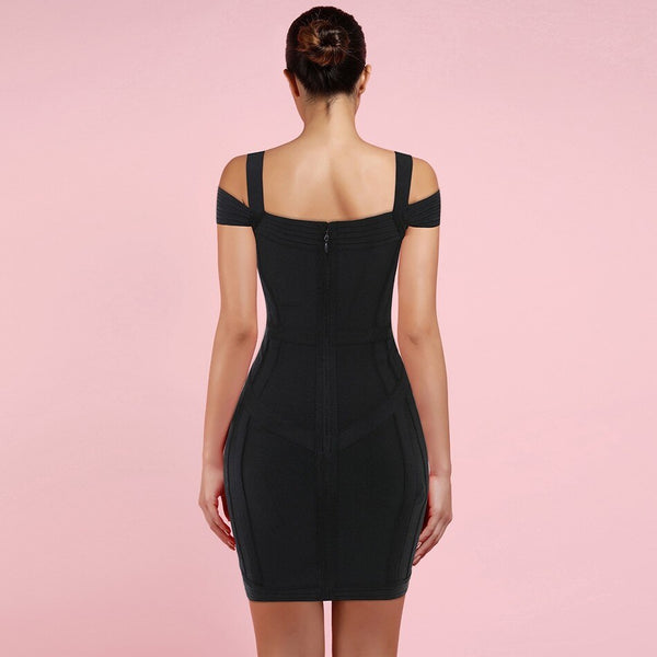 THE STRAPPY MINI DRESS - Revossa