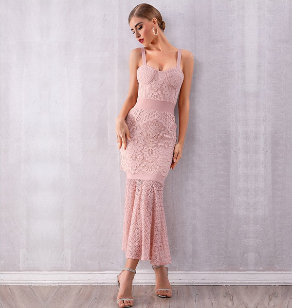 LACE LAUREN MERMAID DRESS - Revossa