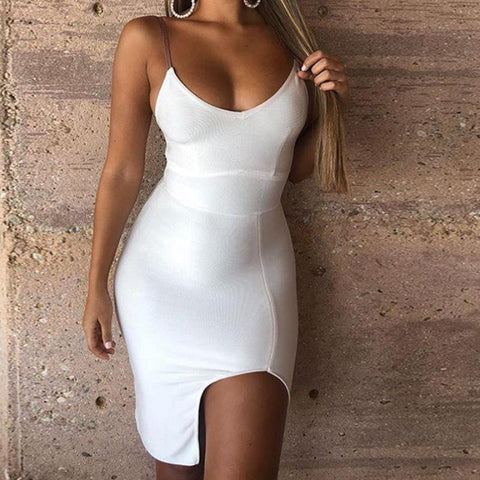 WHITE PATCH DRESS