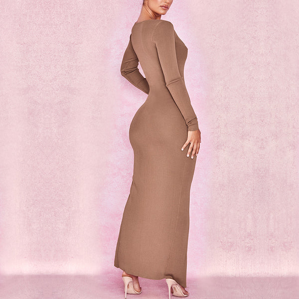 LONG NEUTRAL DRESS