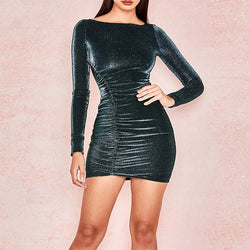 BLACK SPARKLE DRESS - Revossa