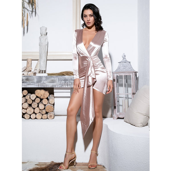 SLINKY WRAP DRESS - Revossa