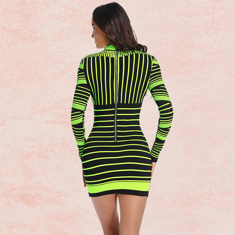 GLEAMING NEON MINI DRESS - Revossa