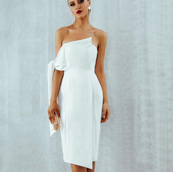 WHITE ELEGANT TASSLE DRESS - Revossa