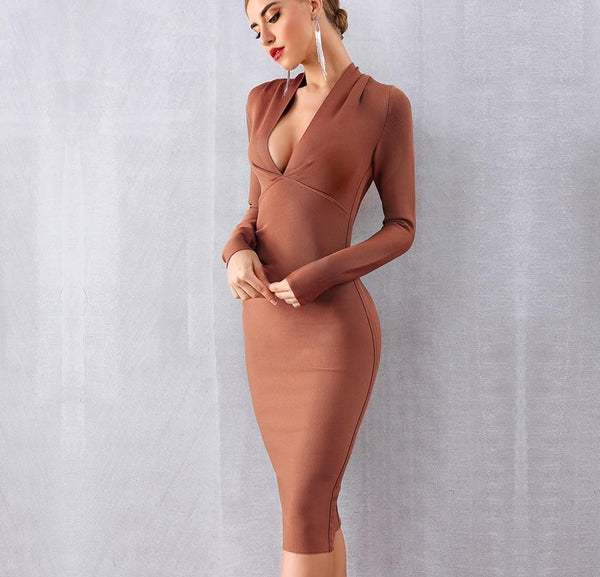 MALIBU KNEE LENGTH DRESS - Revossa