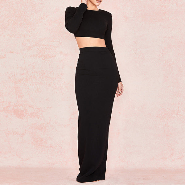 2 PIECE MAXI CREPE DRESS - Revossa