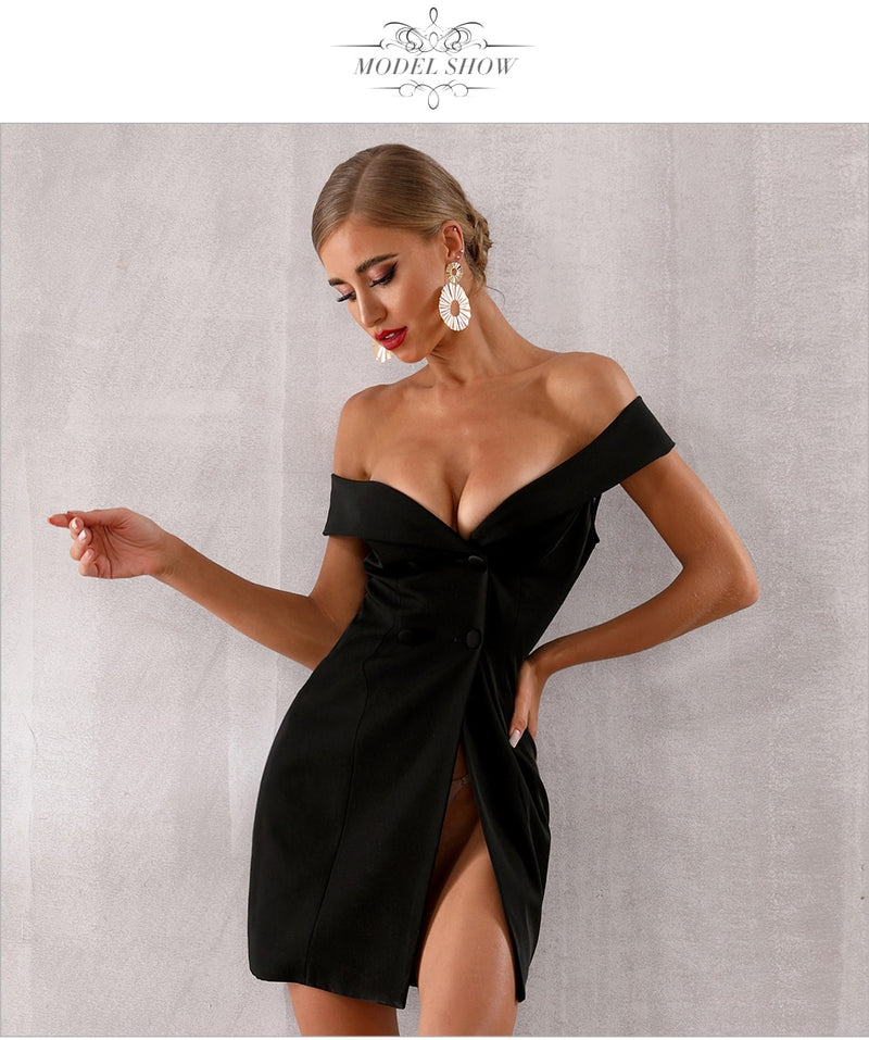 OFF SHOULDER BODYCON DRESS - Revossa