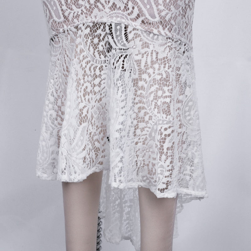 MIDI LACE SUMMER DRESS - Revossa