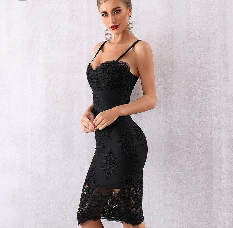 SORAYA MINI LACE DRESS - Revossa
