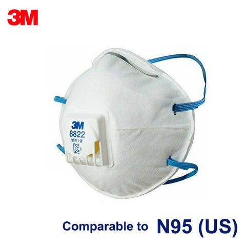 1 Day Handling 3M™ Disposable Respirator 8822 Korea 1st Class with valve 10 pcs