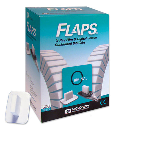 Microcopy FLAPS for Dental X-Ray Film & Digital Sensor Cushioned Bite Tabs 500 Tabs