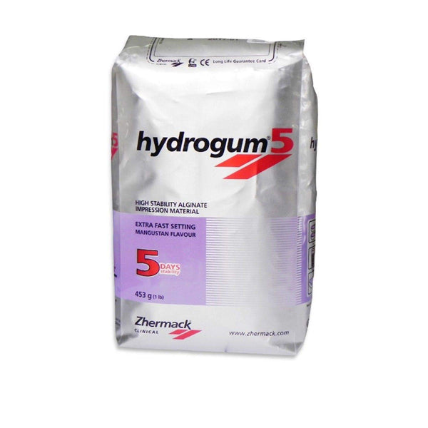 Zhermack Hydrogum 5 Extra Fast Dust Free Alginate 1 Lb Bag
