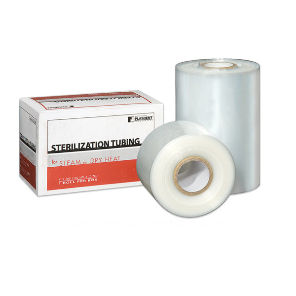 Plasdent Sterilization Tubing Pouches for Steam Or Dry Heat