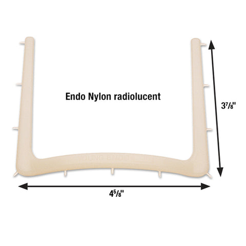 "Young Rubber Dam Frame 4 5/8"" x 3 7/8"" Nylon Radiolucent Endo Frame"
