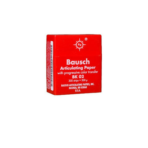 "Bausch .008"" (200 microns) Red Articulating Paper Strips, 300 Strips in Plastic Dispenser"