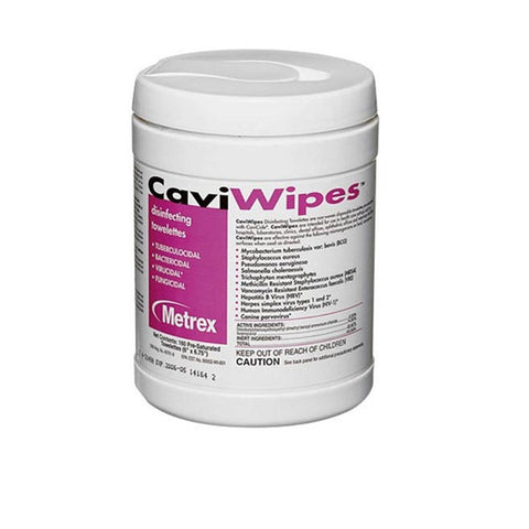 Metrex CaviWipes Towelettes Disinfecting Wipes Large 160/Can Disposable