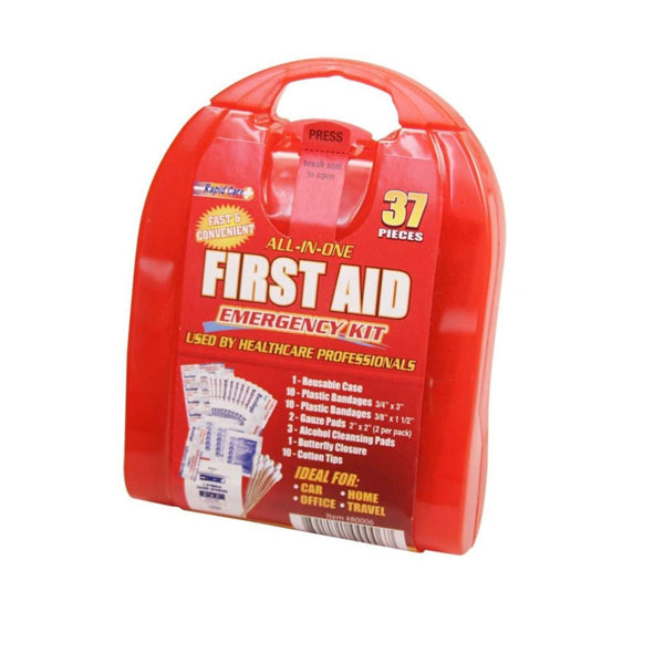 Rapid Care All-In-One First Aid Emergency Kit 37 Pcs