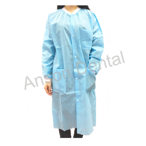 Anson Dental Plus Lab Coats Knee Length 10 pcs