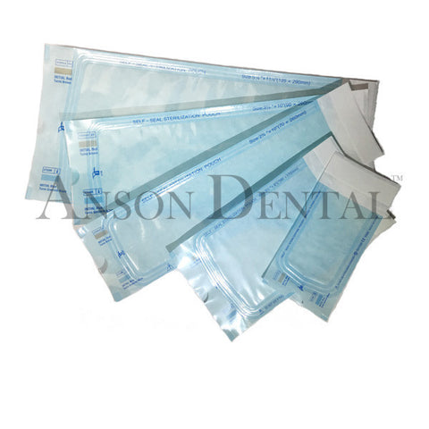 Anson Dental High Quality Self-Sealing Sterilization Bag/Pouches 200 pcs/box
