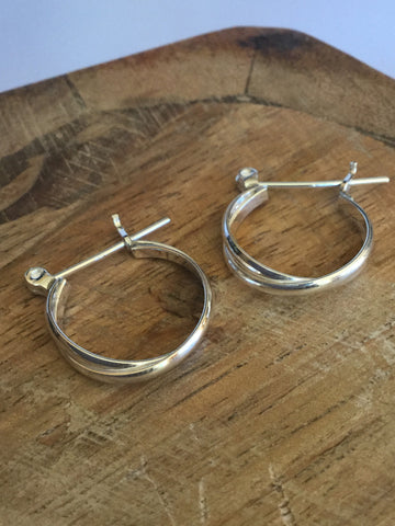 925 STERLING SILVER SMALL HOOPS