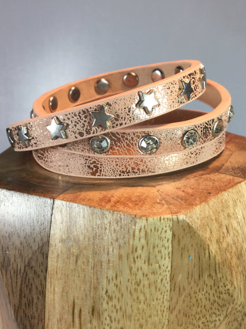 DISTRESSED WRAP GENUINE LEATHER BRACELET