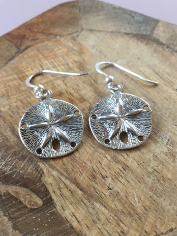 925 STERLING SILVER SAND DOLLAR EARRINGS