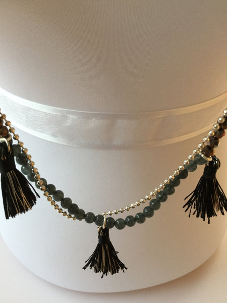 TASSEL NECKLACE & BRACELET