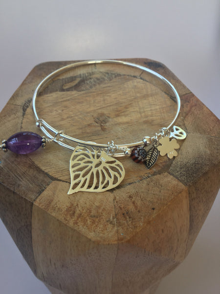 925 STERLING SILVER CHARM BANGLE