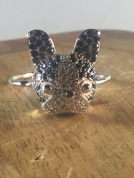 925 STERLING SILVER DOG RING