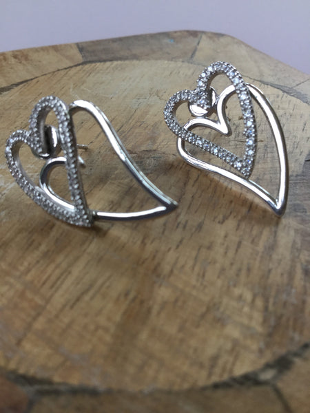 925 STERLING SILVER HEART CUBIC ZIRCONIA